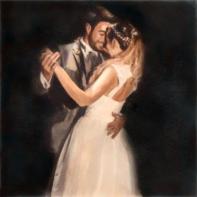Bride And Groom Novia Y Novio ArtWork una de mis Ilustraciones Ilustracion Ilustration Ilustrationart