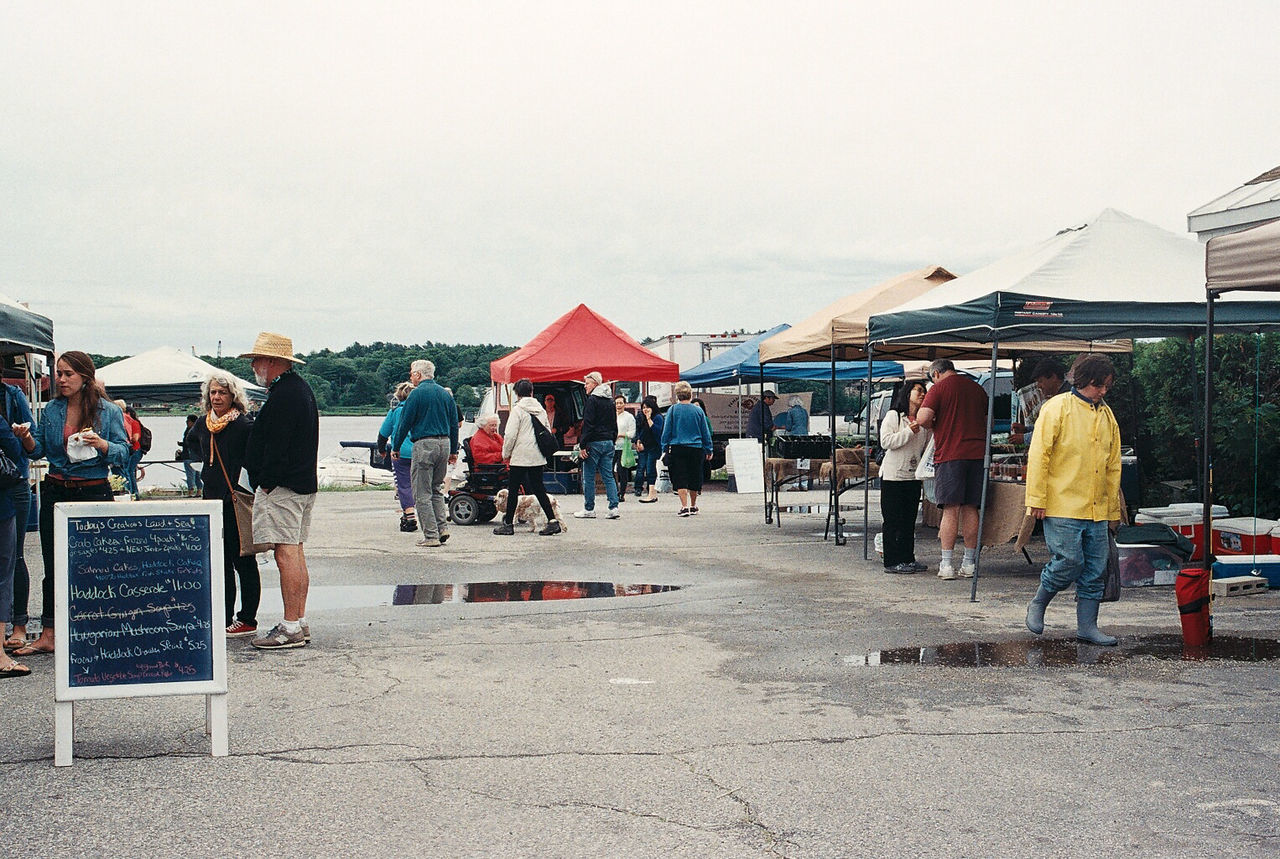 Cloudy Commerce Fair Maine Market North America Outdoors Small Town Summer USA