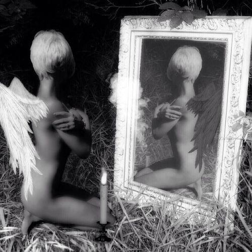 Afraid - me and my edit Wings My Noir Life Myself Edit
