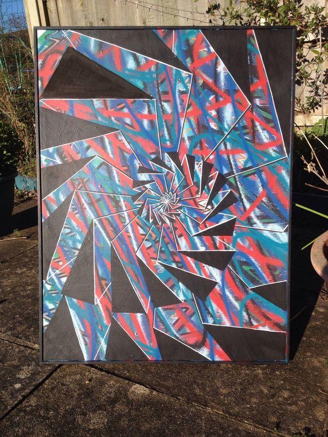 Artwork By TR75 Acrylic Acrylic Painting Original Art Original Artworks Acrylic On Board Artist Street Art Popart Pop Art Popular Art One Of A Kind  Spray Can Art Spray Painting