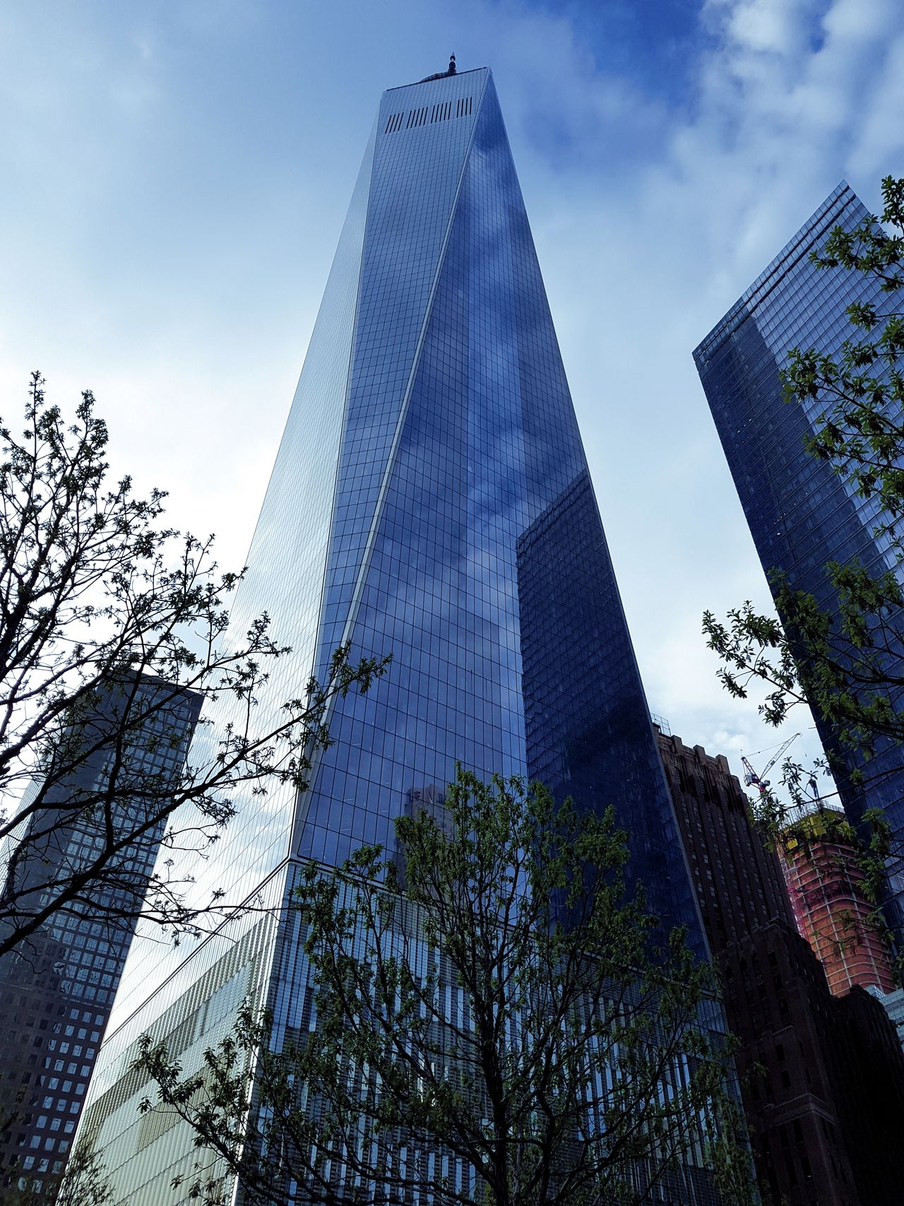 Pyramid Travel Destinations Triangle Shape Low Angle View Architecture Tourism Modern Travel Sky Built Structure Skyscraper No People Outdoors Day Close-up Business Finance And Industry 9/11 Symbol 9/11 Tribute 9/11 New York, New York New York ❤ Reflection Clouds And Sky Cloud - Sky