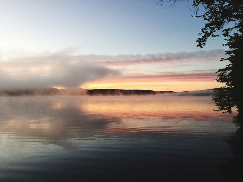 Morning Clouds And Sky Fog Foggy Morning Sunrise Water Pond Placid  Quiet Outdoors Peace Showcase: February Tree Relaxing Maine New England  Landscapes With WhiteWall
