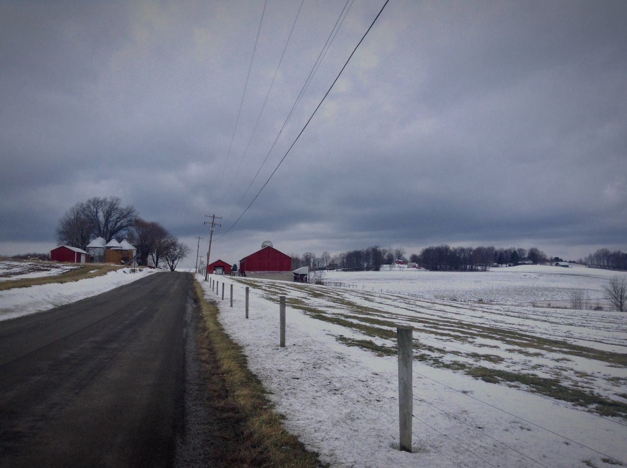 IPadography Pennsylvania Rural America Backroads Farmland Winter Outdoor Photography