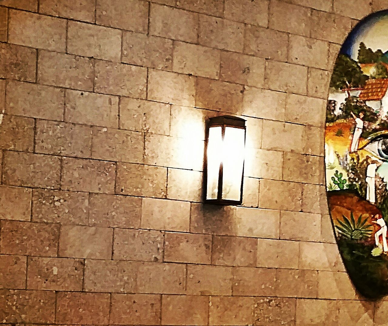 Wall Light brick Art artwork Cinco De Mayo Stone
