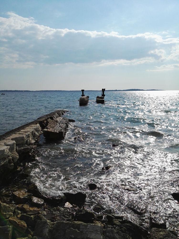 Adriatic Sea Beach Cloud Dock Horizon Over Water Incidental People Jetty Ocean Old Outdoors Pier Rippled Rock Rock - Object Sea Shore Stone Water Wood