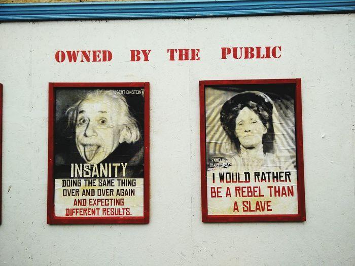 Street Art Albert Einstein Emmeline Pankhurst Kunst Im öffentlichen Raum  Street Gallery Scientists in an Adventure with Feminists