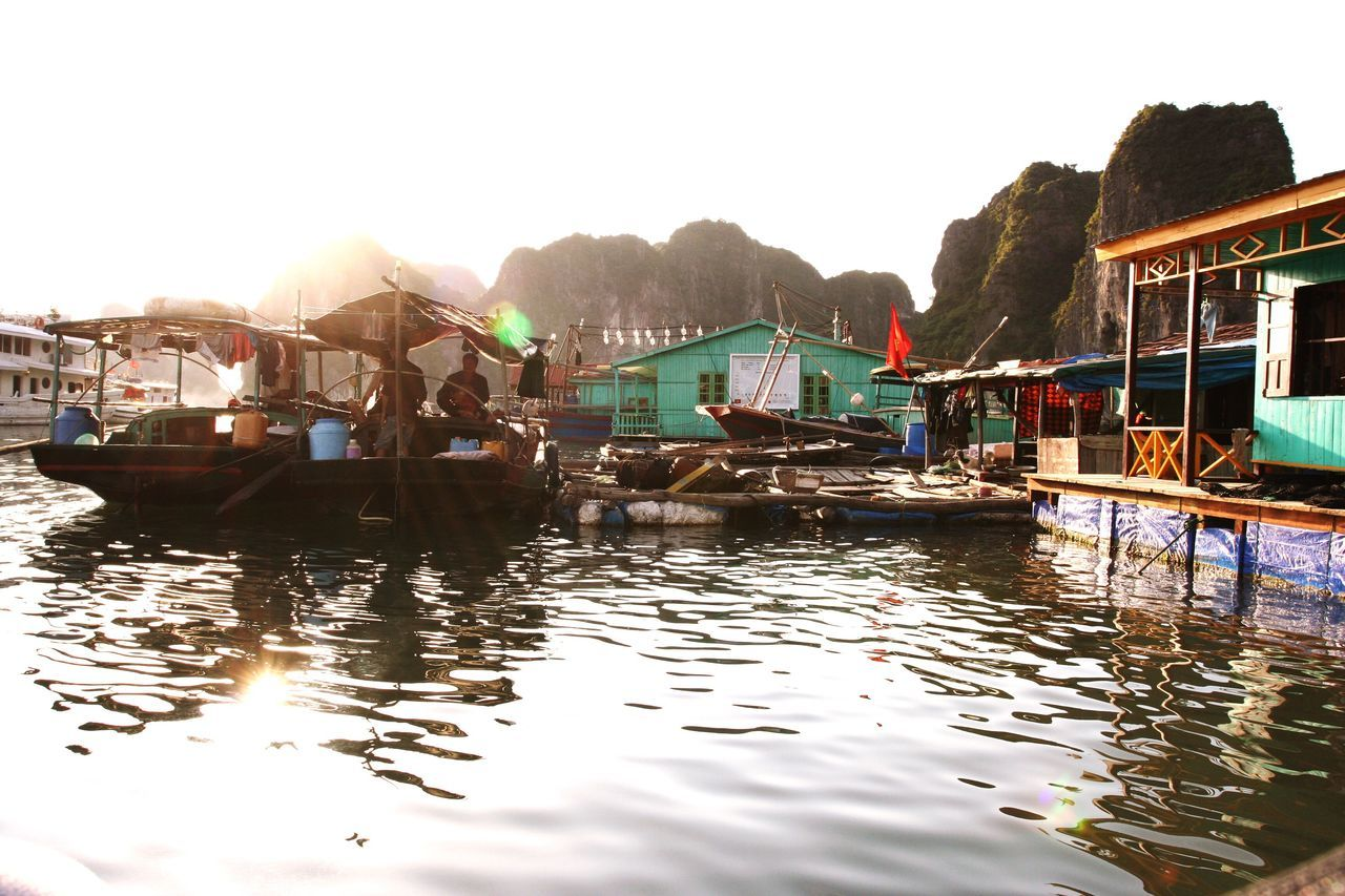 Floating fishing village at Halong Bay Fishing Village Halong Bay Vietnam Fisherman Water Vietnam Non-urban Scene No People Floating Village Sea Halong Halongbay Halong Bay