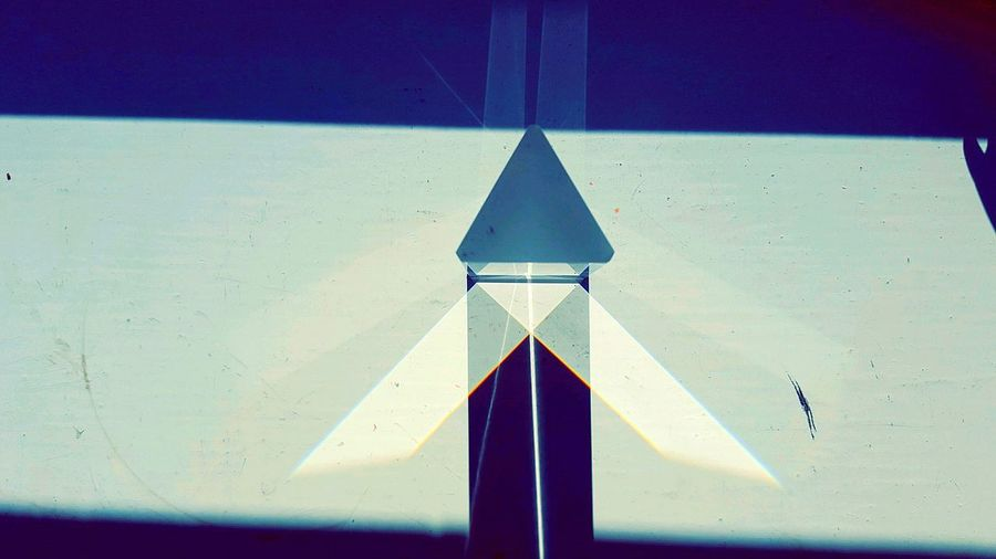 Triangle Shape Shadow Close-up Prism Glass Glass Prism Relflection Refraction Multi Colored Rainbow Multicolors  Art Is Everywhere Simplicity Nature Science In Modern World Sciences Light And Shadow Light White Background Multicolors  Triangle Triangular Triangular Symmetry Triangular Prism Shadows The Graphic City Press For Progress