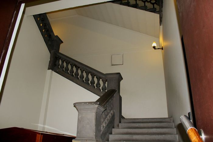 Stairways warm welcoming views in st.George's hall, now a museum once a court of law.... Staircase Stairway Lighting Architecture