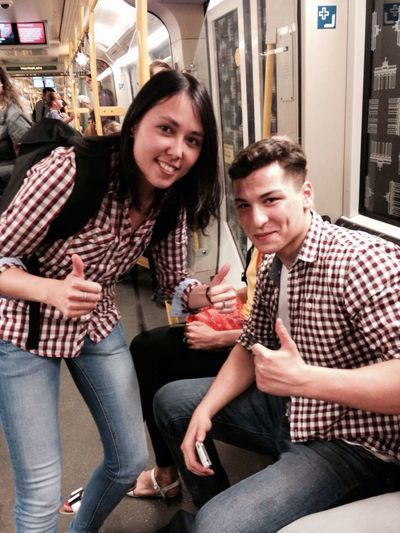 Met this guy in the u-bahn who has great taste in shirts. Nice Shirt Twins Matching New Friends