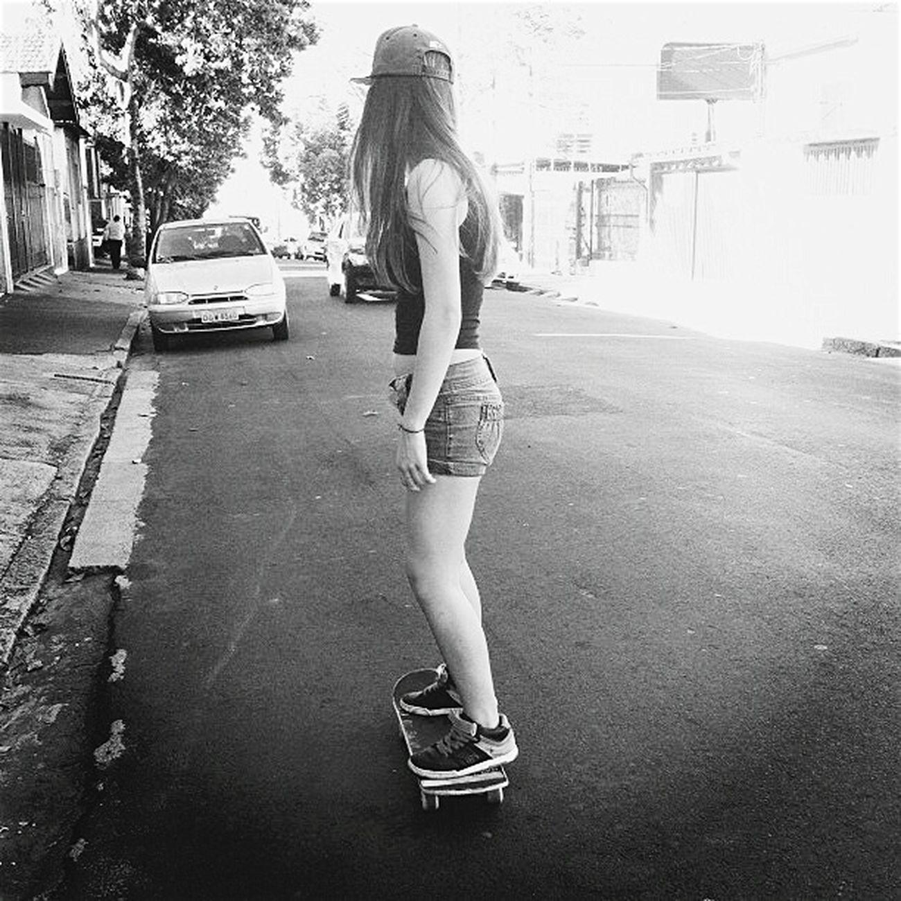 Skateboarding Ontheroad Girl Blackandwhite Sakateboard Street Black & White Skategirl Lifestyle