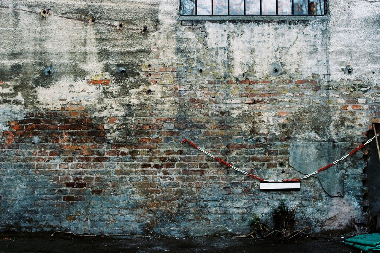 35mmfilmphotography Abandoned Analogue Photography Architecture Backgrounds Bad Condition Brick Wall Building Exterior Built Structure Close-up Damaged Day Film Photography Filmisnotdead Full Frame Graffiti No People Outdoors Peeling Off Rusty Spray Paint Weathered Window Worn Out