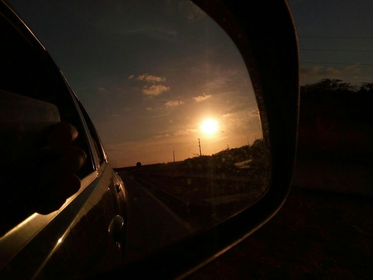 Por do sol em Natal/RN. Sunset Sky Day Retrovisor Brazil Nofilter Car First Eyeem Photo