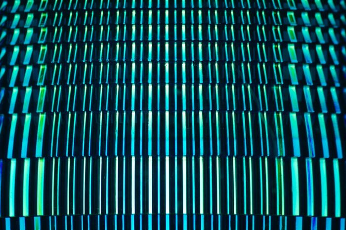 Pattern, Texture, Shape And Form Blue Emergency Light