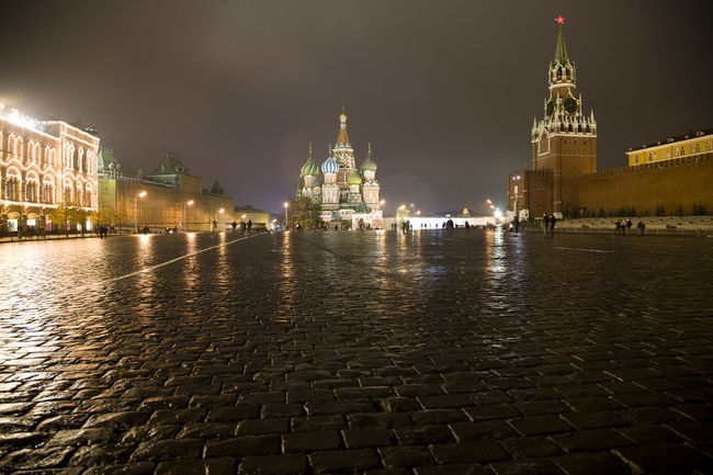 Night scene of St. Basil's, Red Square, Moscow Architecture Building Exterior Built Structure Capital Cities  City Dome Famous Place History Illuminated International Landmark Moscow Night Place Of Worship Red Square Religion River Sky Spirituality St Basil's Cathedral Tourism Travel Travel Destinations Water
