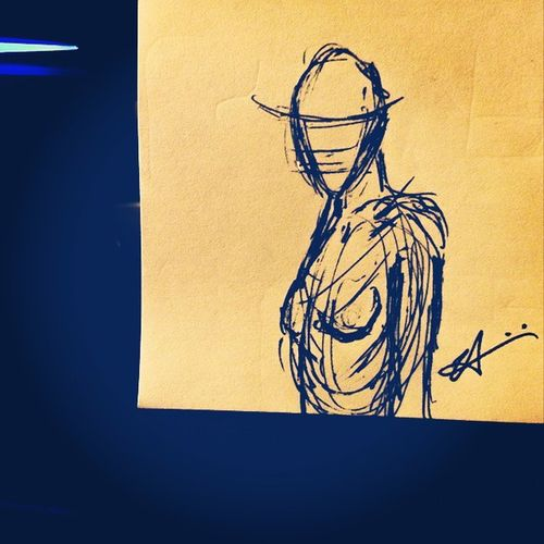 Random sketching Sketch Drawing Gesturedrawing Doodle NotToday Art Copyright2014 AllRightsReserved Human