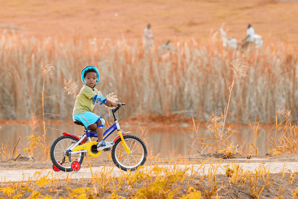 Beautiful stock photos of fahrrad, child, children only, bicycle, childhood