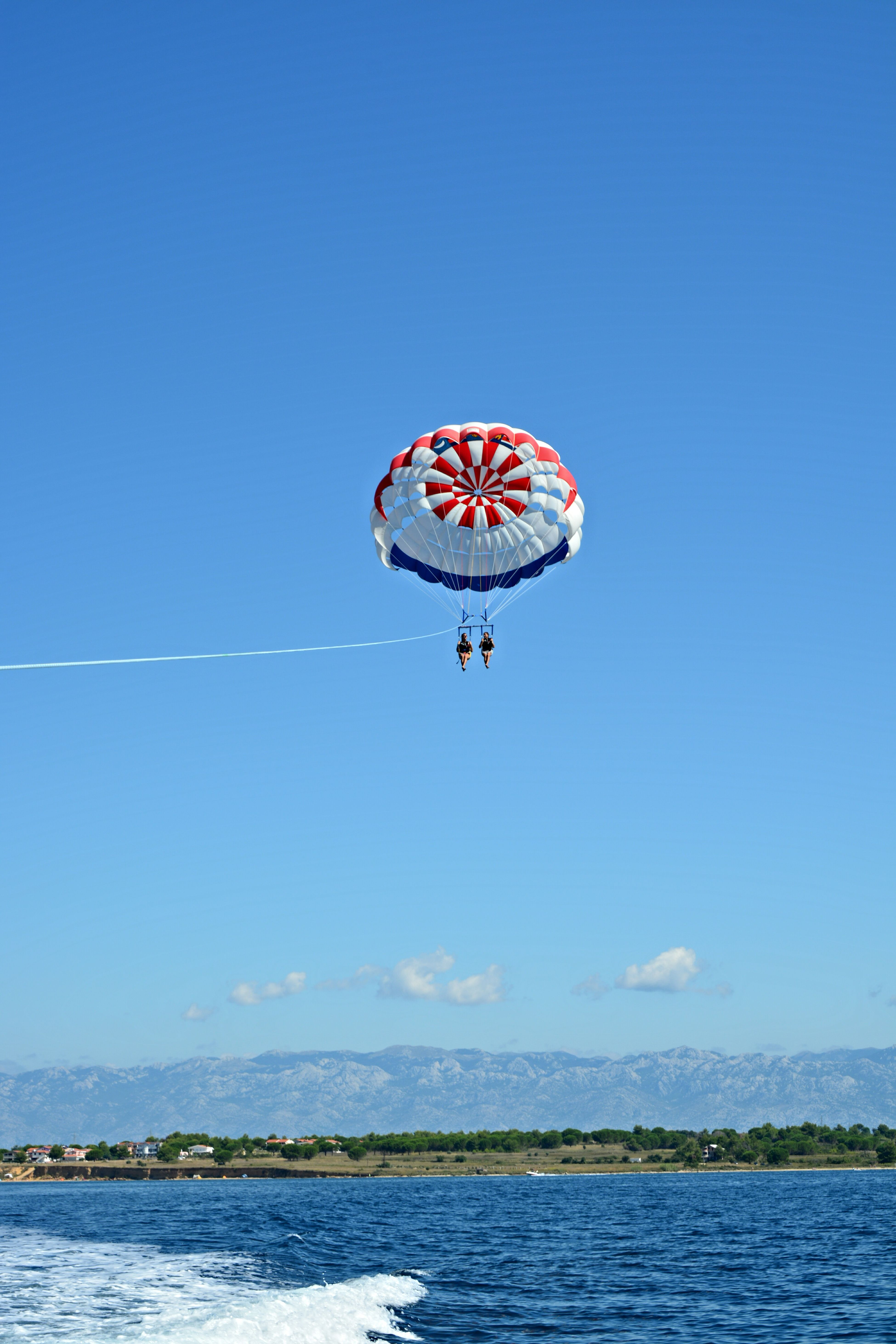 My dream is to fly over the rainbow, so high 🌈Summer2015 Newexperiences Parasailing Friends ❤ Croatia ♡ Paceamorefantasia Volareeee