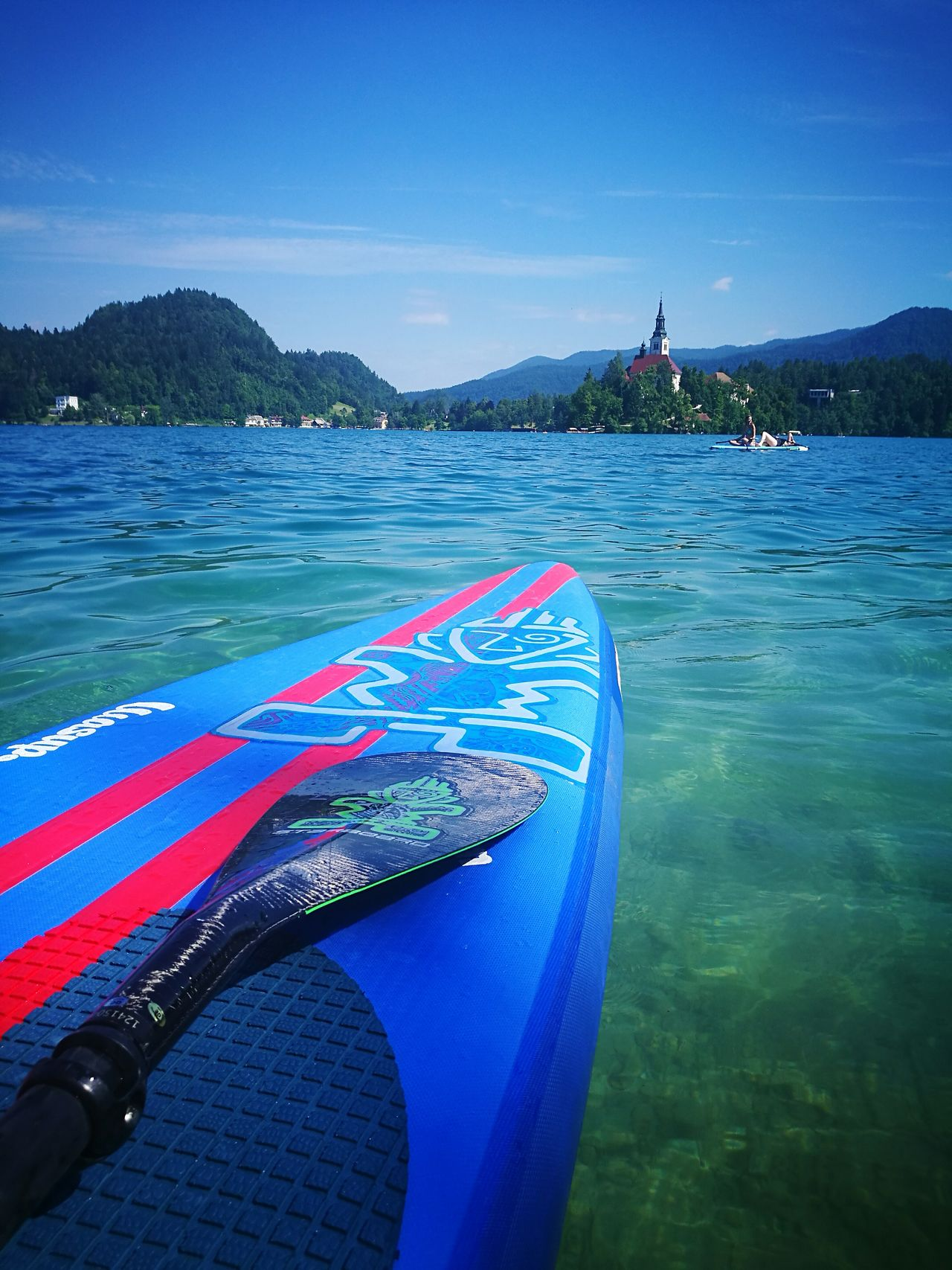 Stand up paddling at lake Bled Sup Stand Up Paddling Bled Slovenija Starboard Starboardsup Tiki Actionmama