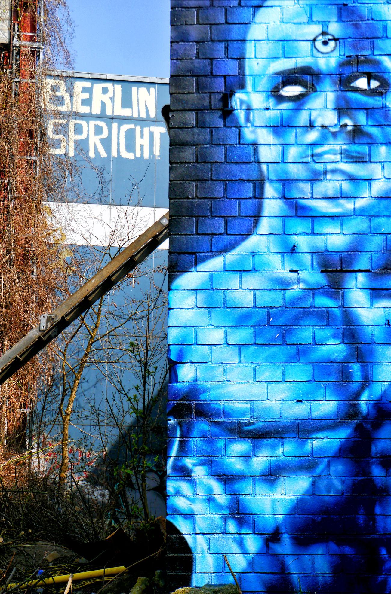 Abandoned Art Berlin Berliner Ansichten Blue Day Dr. Manhatten Graffiti No People NSA Station Berlin Outdoors Ruined Teufelsberg Urbex