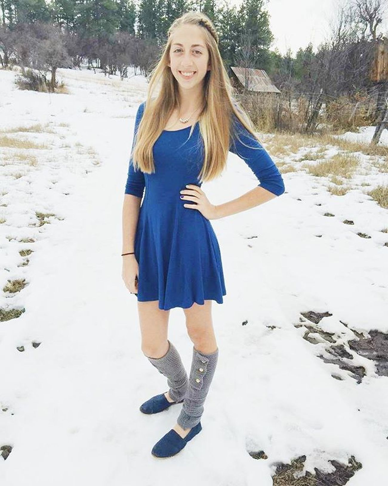 Happy Thanksgiving everyone! Worththecold Legwarmers Kiva Blue Dress Thanksgiving Favoriteholiday Blessed  Love