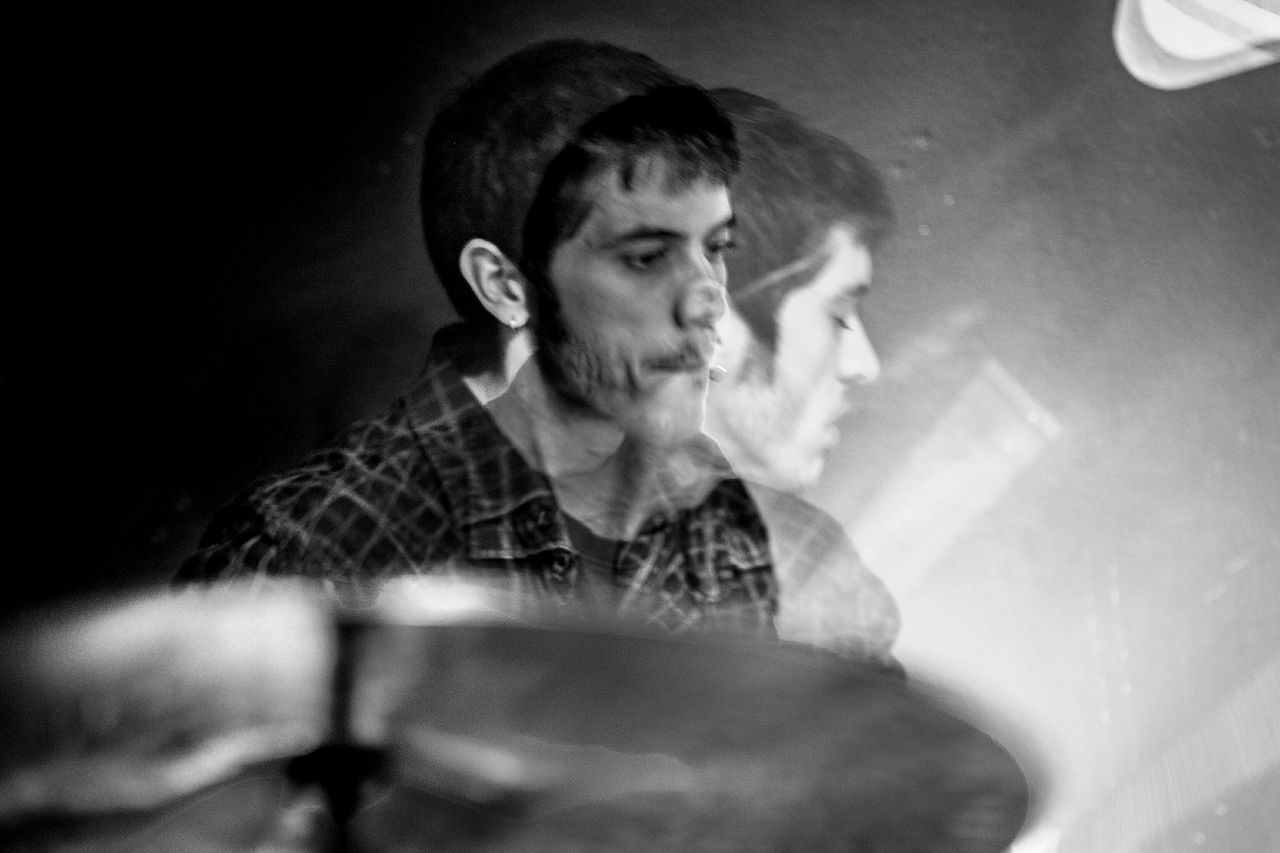 Arnau Obiols - Libèrrim @ Soda Acústic Drummer Performance My Year My View Musicians Monochrome Blackandwhite Double Exposure Light And Shadow Open Edit Things I See Fragments Of Life BCN Experimental People Playing Arts Culture And Entertainment Musical Instrument Jazz Music Musician Music