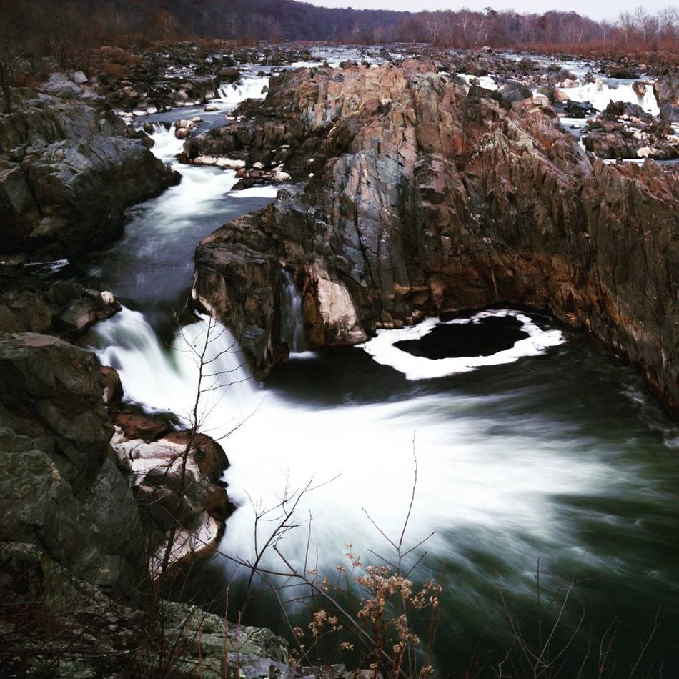 Great Falls! Nature Rock - Object Beauty In Nature Water Tranquility Tranquil Scene Scenics No People Outdoors Landscape Day Motion Water Fall Cold Temperature Miles Away Miles Away