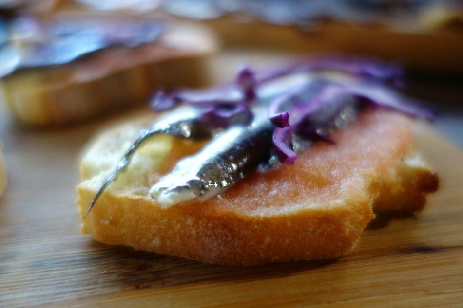 Food Spanish Food Boquerones Pan Tomate Tapas