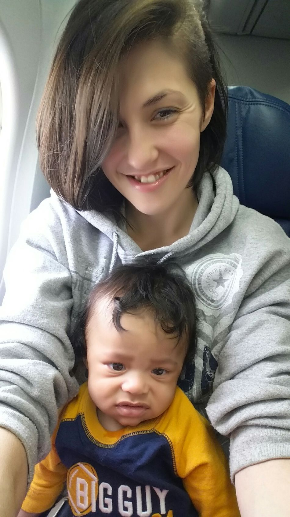 Boston's first airplane ride ny to alanta n Wisconsin New York City My Goofy Baby Funny Faces Chillin With No Makeup On A Mothers Love My Mini Me <3