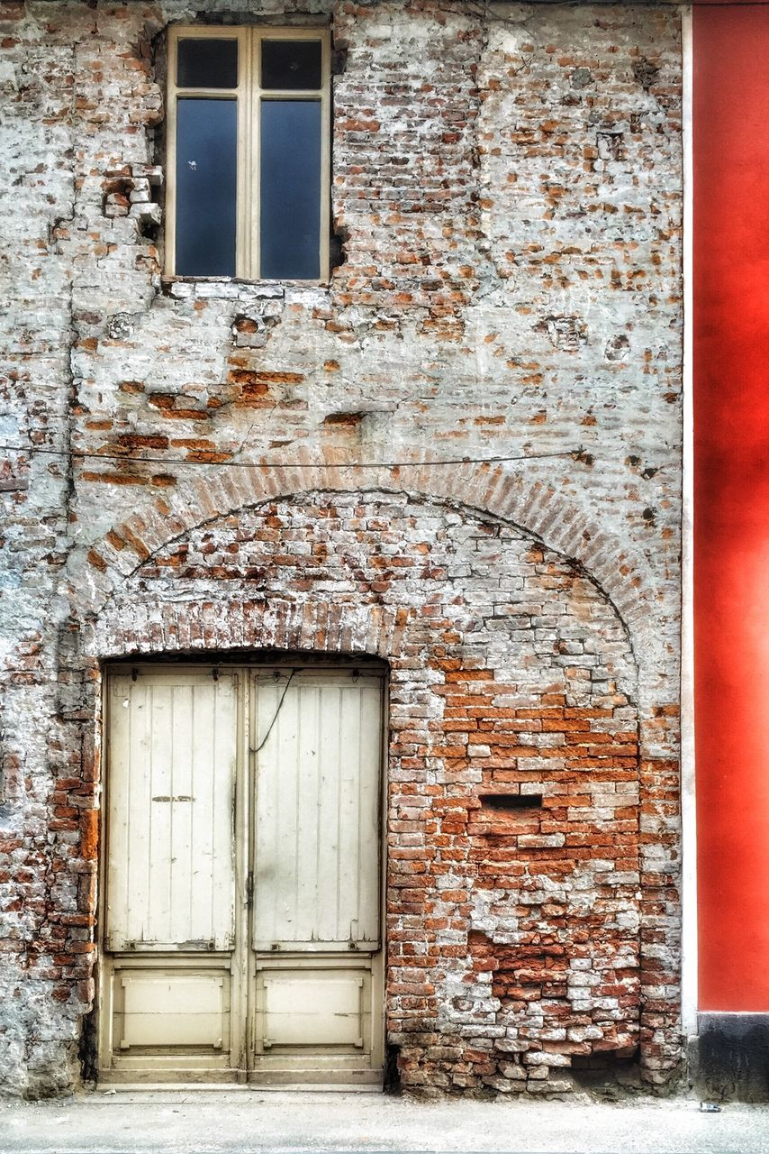 architecture, door, built structure, building exterior, closed, window, entrance, no people, weathered, outdoors, day, doorway