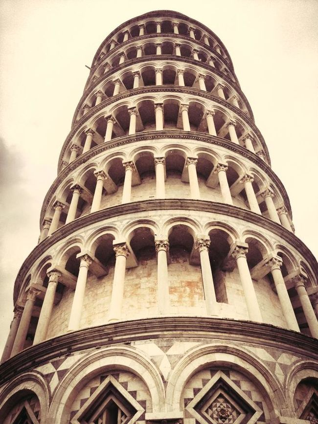 Architecture Famous Place History Italy Leaning Tower Of Pisa Low Angle View Pisa Pisa Tower Tourism