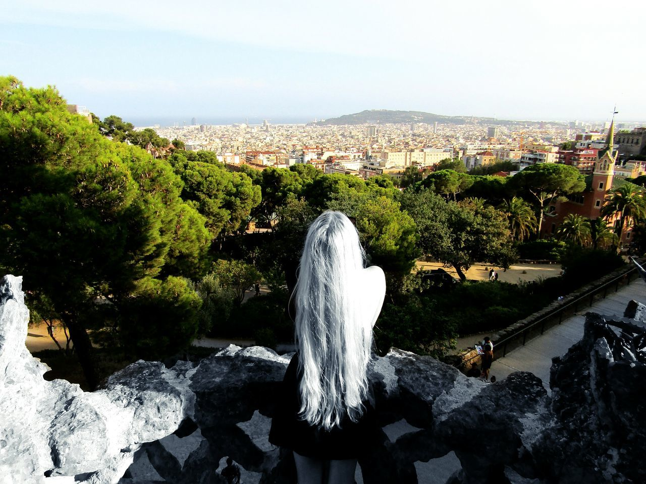 Blackandwhite Blackandwhitephotography Black&white Rapunzel's Tower Rapunzel Let Down Your Hair Myworld Coloring Longhairdontcare That's Me Relaxing Taking Photos Landscapephotography Fine Art Photography From My Point Of View Eyeemcollection Eye4photography  Above The City Takeapicture Stillife Newtalent SPAIN Barcelona Parkguell