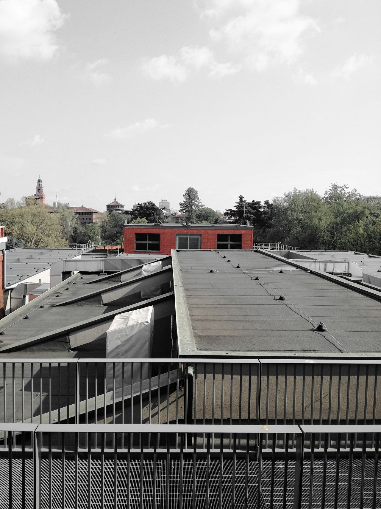 Architecture Building Exterior Built Structure Cloud - Sky Day Milano Design Week 2017 - Ventura Lambrate #salonedelmobile #milanodesignweek #design #milano #milan #venturalambrate #venturadesigndistrict #venturadesign #venturadesignco Ilsalone Ilsalonedelmobile Nature No People Outdoors Roof Rooftop Sky Tree Triennale