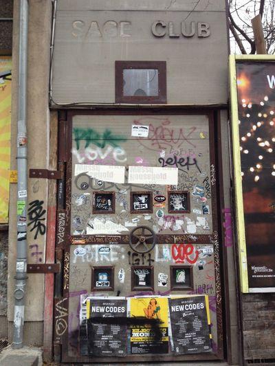 Sage Club entrance Berlin City Club Door Entrance Heinrich-Heine-Strasse No People Sage Club Sticker Text