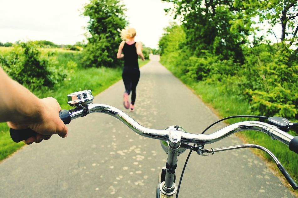 Beautiful stock photos of running, Bicycle, Bicycle Handle, Carefree, Clear Sky