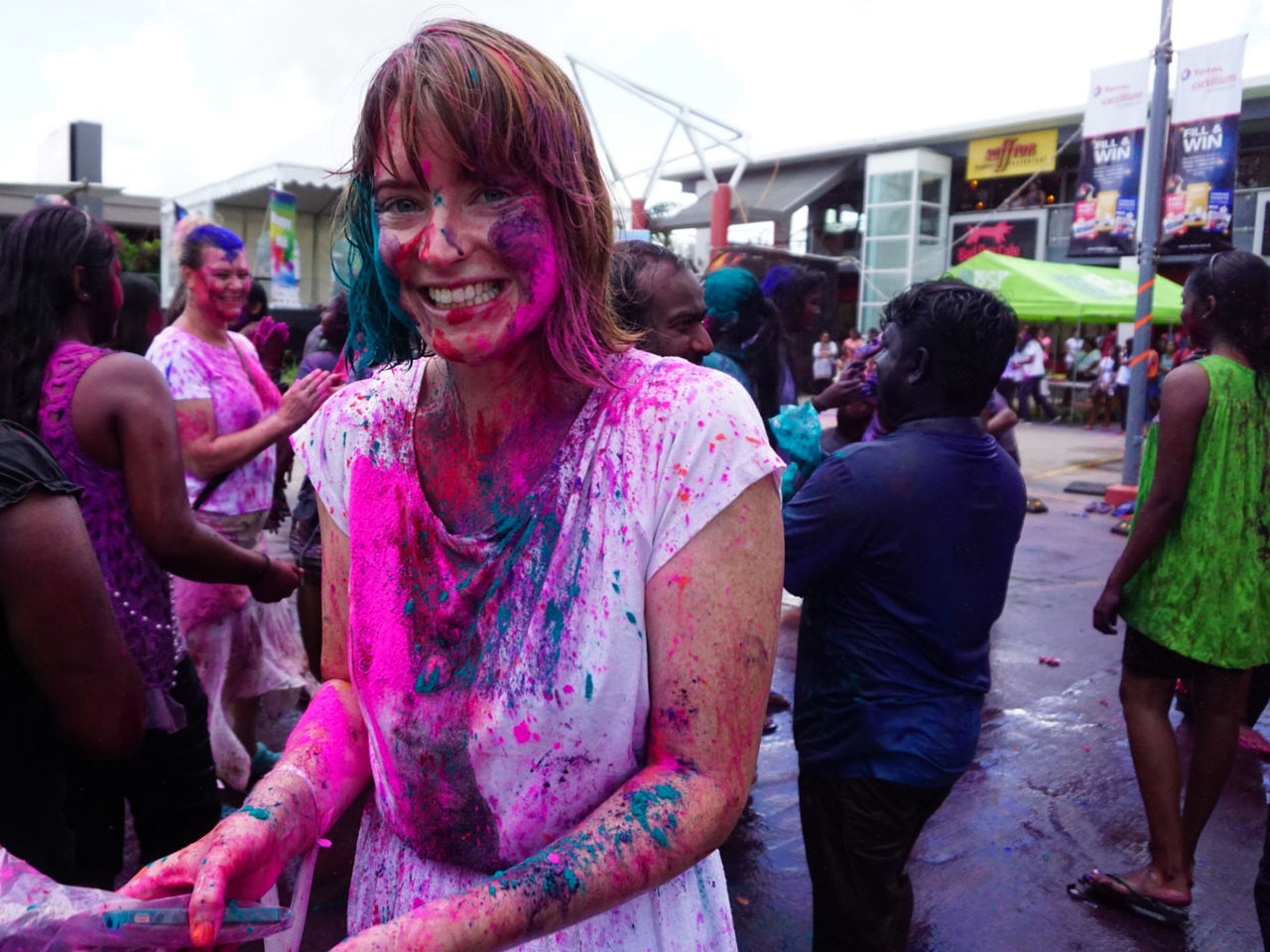 Millennial Pink Celebration Holi Multi Colored Cultures Face Powder Pink Color Cheerful Real People People Street Photography SUVA FIJI ISLANDS The Portraitist - 2017 EyeEm Awards