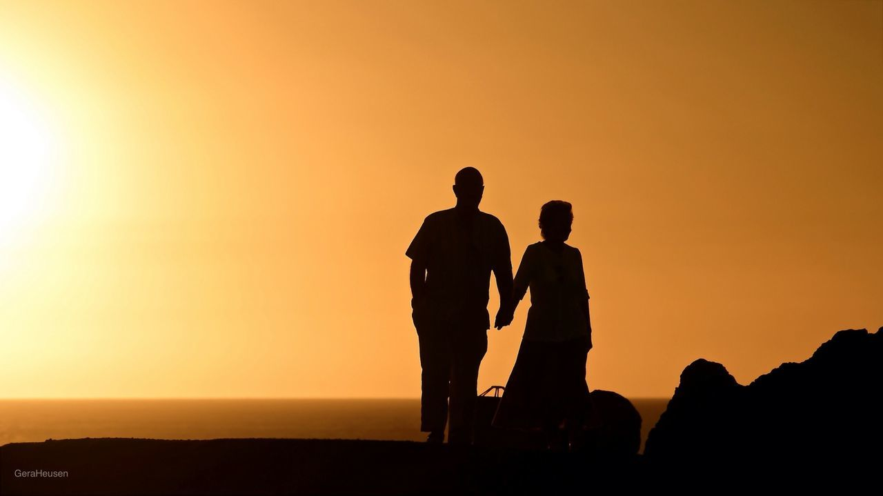 Beautiful stock photos of couples, Beauty In Nature, Clear Sky, Copy Space, Couple