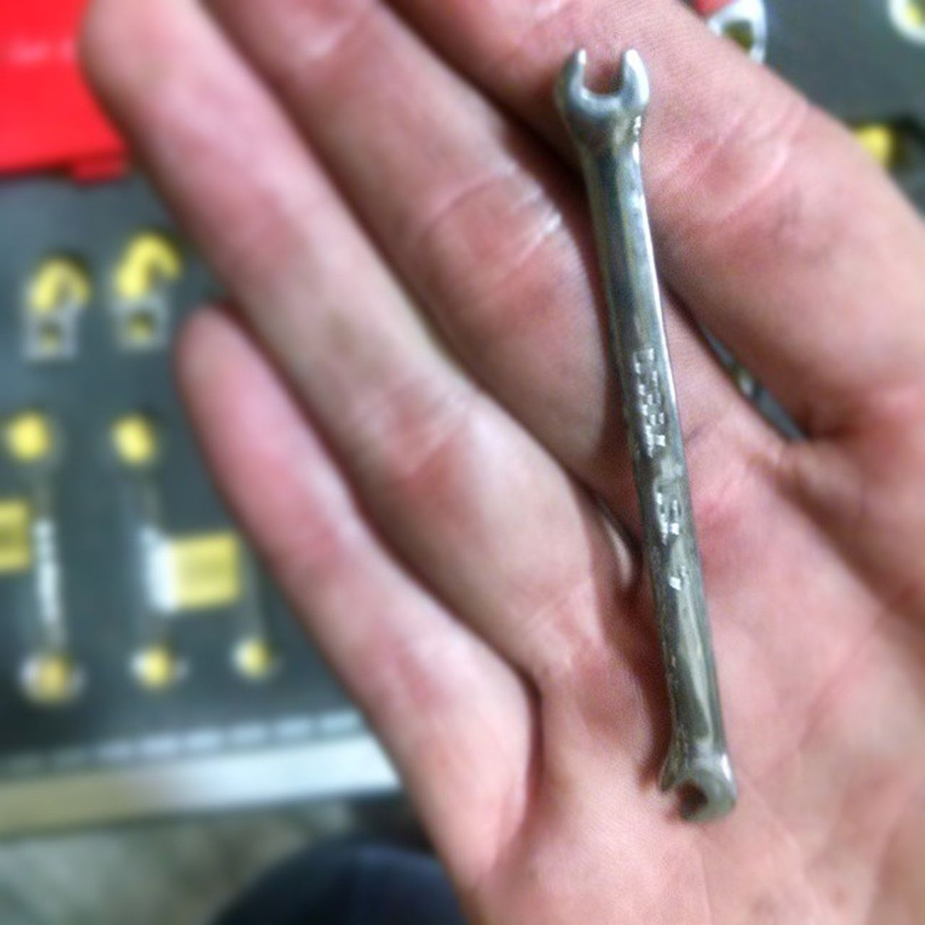 Tiniest wrench in our toolbox. Snapon Wrench  Maintainer F15 strikeeagle