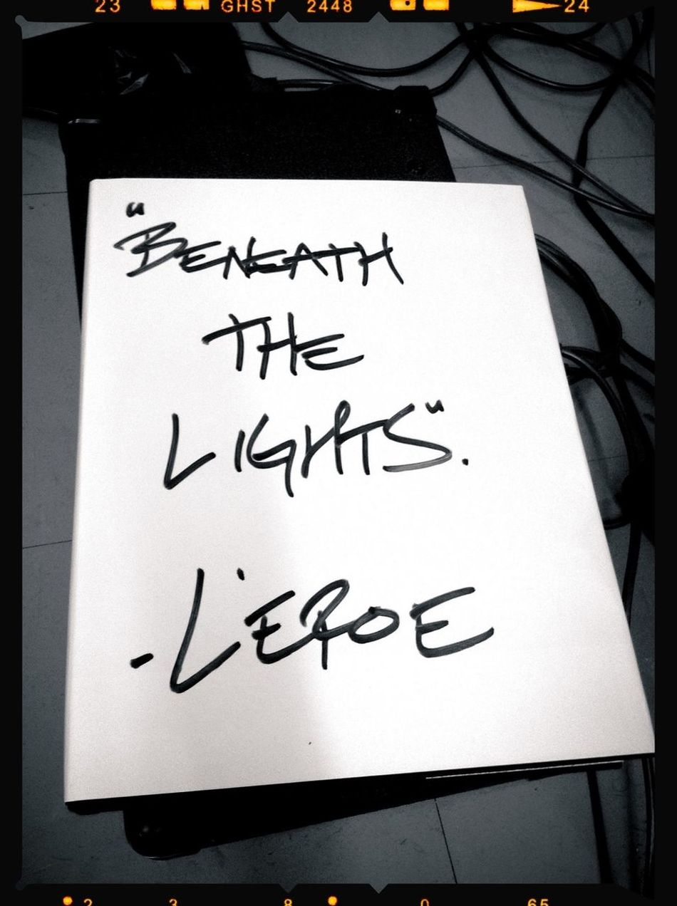 Leroe24fotos.com My First Book Beneath The Lights