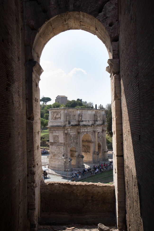 An arch framed within an arch 5d 5d Mark Iv Ancient Ancient Civilization Arch Architecture Archway Built Structure Canon Canon 5d Mark Iv Canon Photography Colosseum Constantine Famous Place History Monument Old Ruin Roma Rome Sky The Past Tourism Tourist Travel Destinations