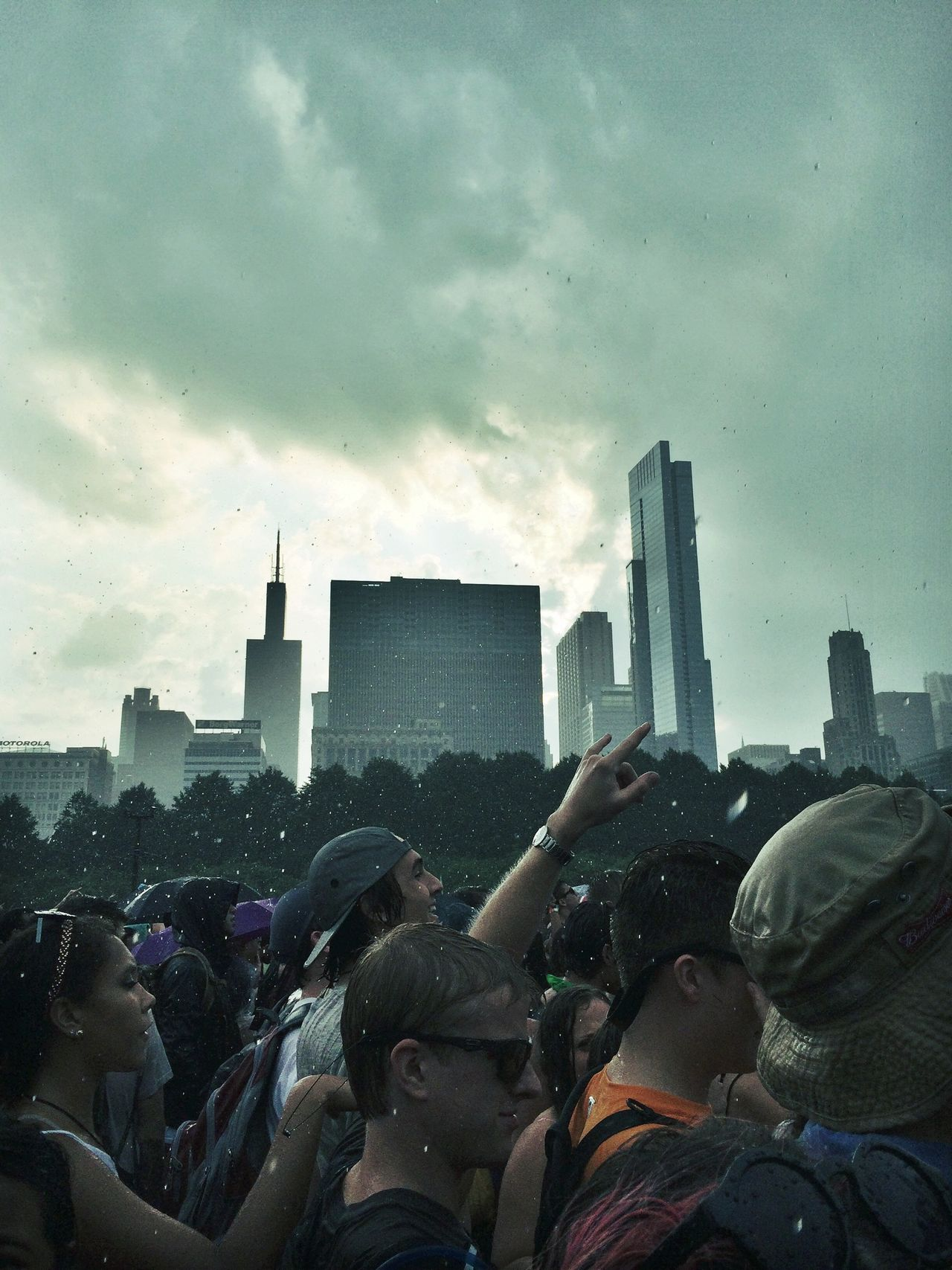 (I'm that one kid who looks out the window while everyone else listen to the teacher.) Out here in the rain at Lollapalooza 2014. Lollapalooza Chicago Concert Hello World