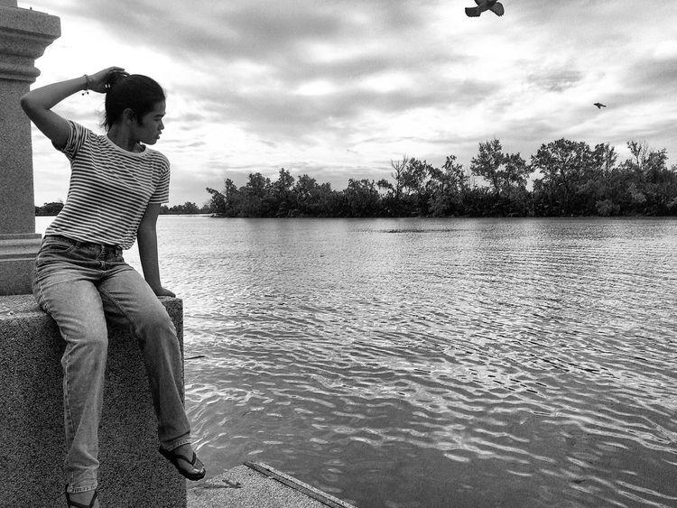 🌪🌪 Travel Bangpakong River View Photography Mlife Chilling Nature Thailand Sky And Clouds Mood Tasteoflife