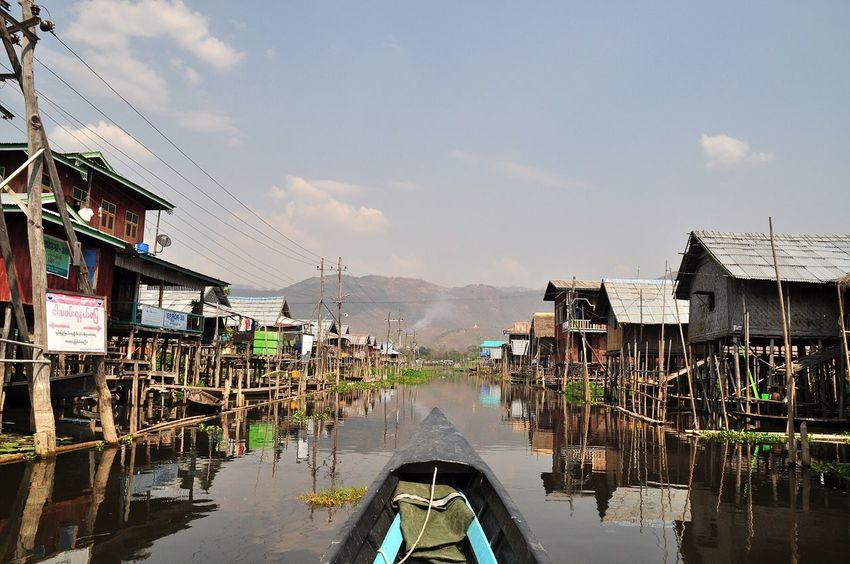 Myanmar Photopackers Oksk Inle Lake Boat Floating House