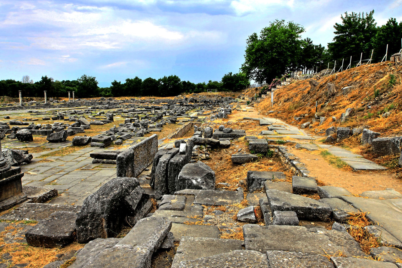 Visiting the Philippi archaeological site, Northern Greece Ancient Ancient Civilization Archaeology Architecture Day Excavation History No People Outdoors Past Ruins Stone Fine Art Photography UNESCO World Heritage Site