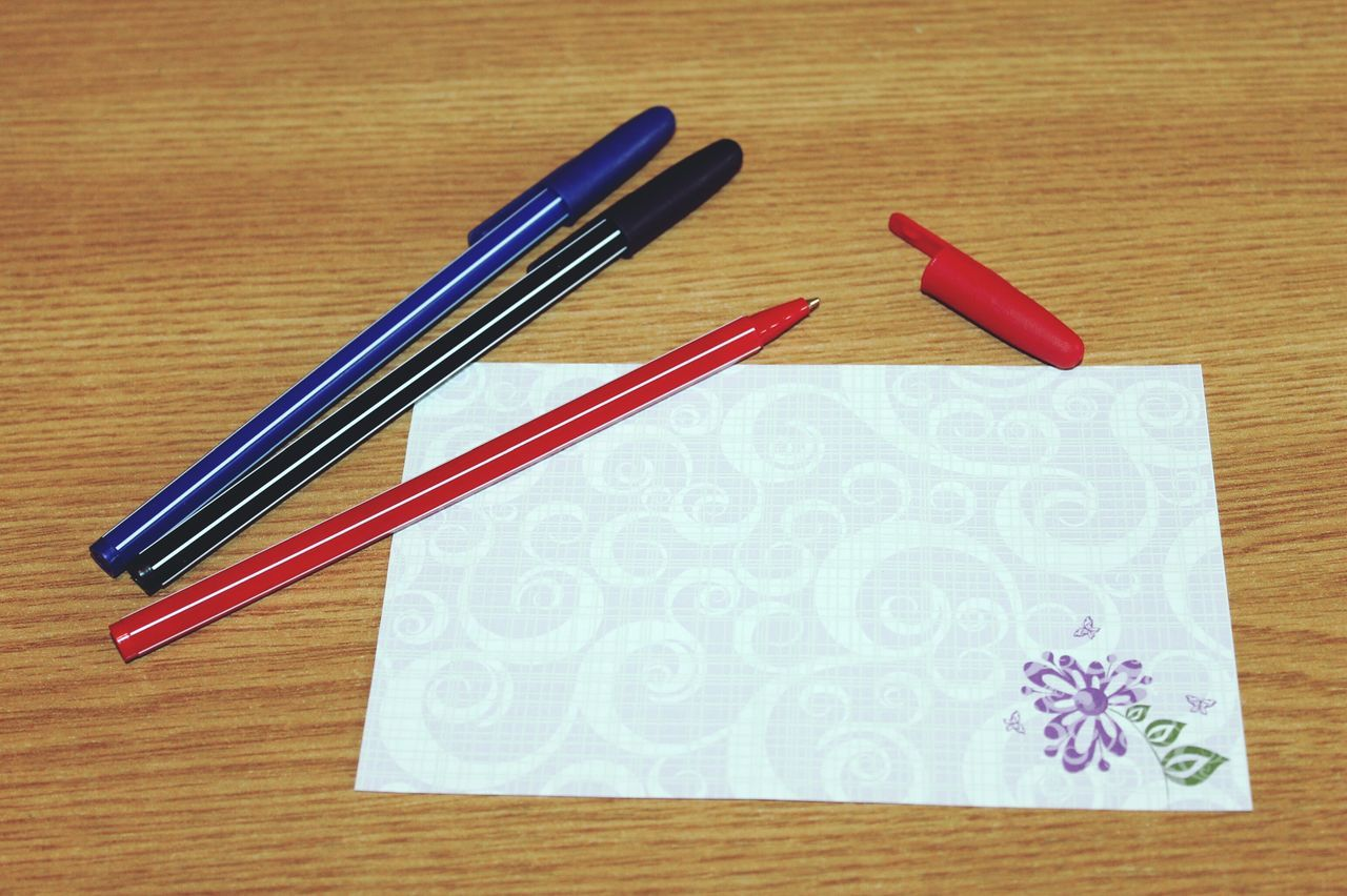 White Pen Write Something Write Something About You Blue Red Black Purple Showcase: February