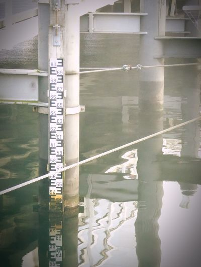 Kiel Harbour Foggy Morning Reflection Water Day Bridge - Man Made Structure Bridge Waterlevel Measure No People Outdoors Harbour View Waterline Most Wonderful Time Of The Year! GERMANY🇩🇪DEUTSCHERLAND@ Wet, Cold And Windy