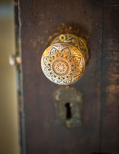 opened door with ornate antique knob Antique Old Lock Architecture Brass Close-up Day Door Doorknob Doorknob Old Gold Colored Knob Lock Metal No People Ornate Outdoors Vintage Doorknob Vintage Knob Vintage Lock