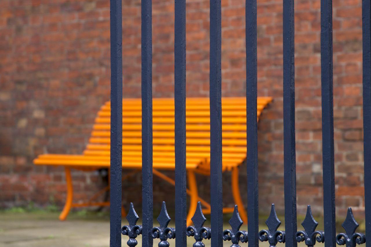 metal, no people, day, outdoors, close-up, security bar