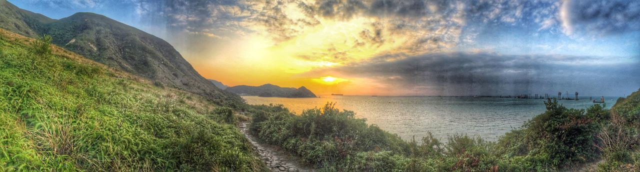 Hidden Gems  Hk Hongkongtravel Travelwithme Hometown City Cityscapes Landscape Nature Naturelovers Hiking Lantau Island Tungchung TAIo Girlphotographer IPhone IPhoneography #大嶼山 #東涌 #大澳 #郊遊 Panorama Snapseed Travel With Iphone Sunset Capture The Moment Colour Of Life A Bird's Eye View