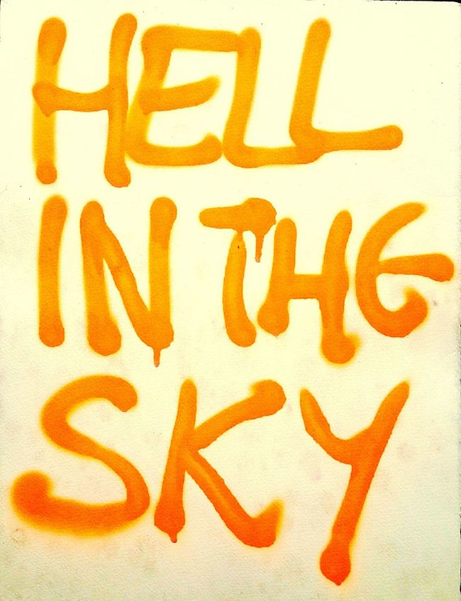 Text Wall - Building Feature Orange Color Aerosol Neon Color Graphic Spraypaint Streetphotography Textures And Surfaces Graffiti Street Photography Urbanexploration Urban Landscape Dreams Hell Sky Words